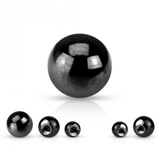 Boule de piercing noire en acier titanium IP (remplacement)