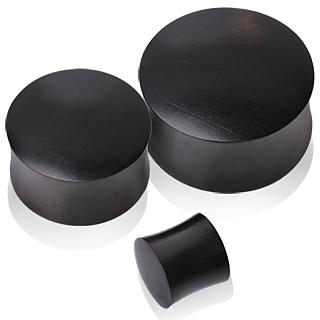 Ecarteur plug en bois Areng noir