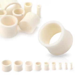 Ecarteur type tunnel blanc en os de buffle
