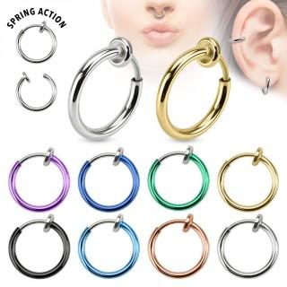 Faux piercing anneau oreille ou nez (sans perçage)