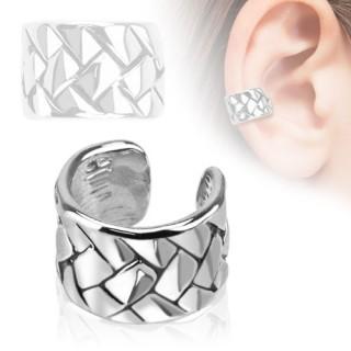 Faux piercing oreille à écailles carrées