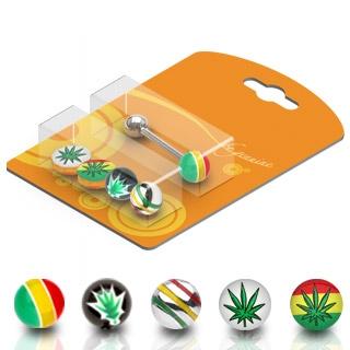 Pack piercing langue Jamaïque et cannabis