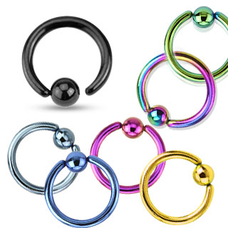 Piercing anneau captif (CBR) plaqué par ionisation