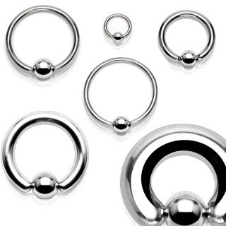 Piercing anneau captif en acier