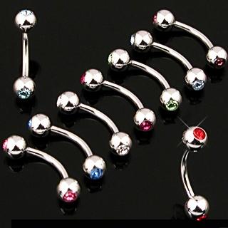 Piercing arcade en acier à boules serties