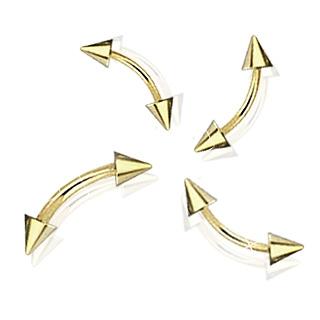 Piercing arcade doré à pointes