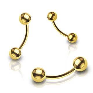Piercing arcade doré à boules