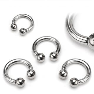 Piercing circulaire acier fer à cheval