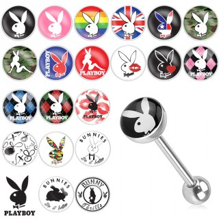 Piercing langue avec logo Playboy (licence officielle)