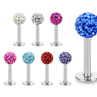 vente piercing labret boule swarovski ferido. Black Bedroom Furniture Sets. Home Design Ideas