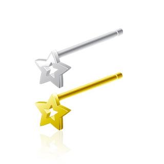 Piercing nez étoile ajourée en argent