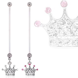 Piercing nombril de grossesse à couronne princière
