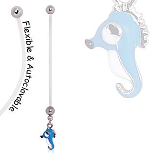 Piercing nombril de grossesse à hippocampe
