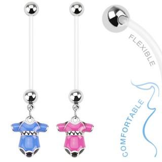 Piercing nombril de grossesse avec grenouillère