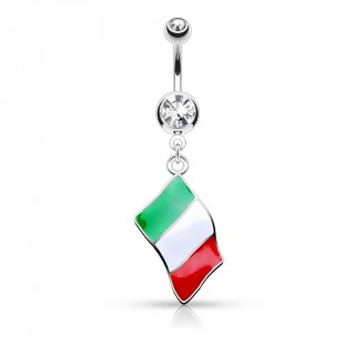 Piercing nombril drapeau Italie