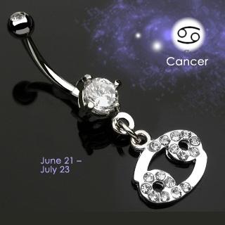 Piercing nombril Zodiac signe Cancer