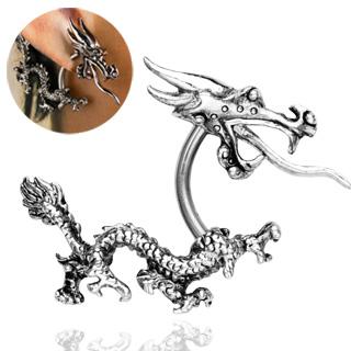Piercing oreille dragon asiatique