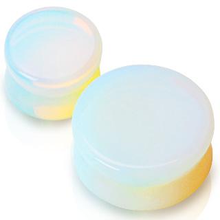 Piercing plug pierre semi-précieuse Opalite