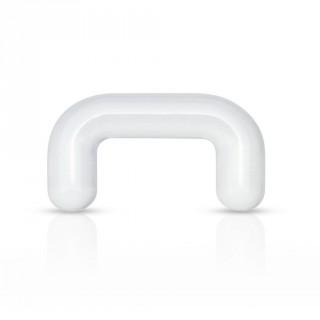 Piercing retainer septum en acrylique transparent