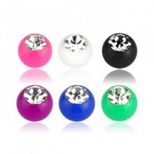 Boule de piercing en acrylique sertie (remplacement)