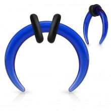 Ecarteur croissant bleu en acrylique