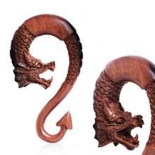 Ecarteur dragon sculpté à la main en bois d'ébène