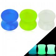 Ecarteur plug cintré en acrylique fluorescent