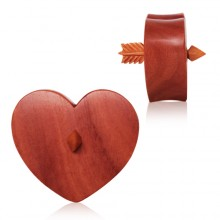 Ecarteur plug coeur et flèche en bois Sawo