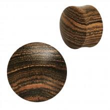 Ecarteur plug concave en bois de rose