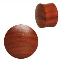 Ecarteur plug concave en bois de santal
