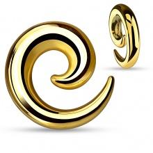 Ecarteur spirale en acier doré à finition miroir