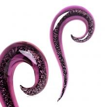 Ecarteur taper spirale en verre pourpre