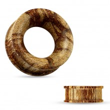 Ecarteur tunnel concave en bois de racine