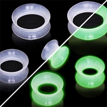 Ecarteur tunnel transparent en silicone phosphorescent