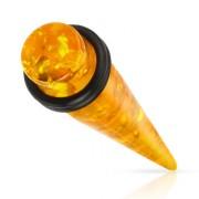 Ecarteur type tapers en ambre synthétique