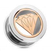 Ecarteur type tunnel avec plaque en forme de diamant