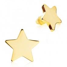 Embout microdermal doré en acier en forme d'étoile