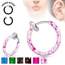 Faux piercing anneau oreille ou nez (sans perçage) à motif éclaboussures