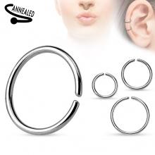Faux piercing anneau oreille ou nez (sans perçage) style classique