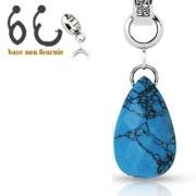 Pendentif turquoise pour piercing nombril modulable