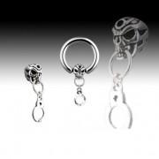 Piercing circulaire anneau et crane