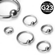 Piercing anneau captif en titane grade 23