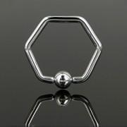 Piercing anneau captif hexagonal