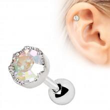 Piercing cartilage à strass aurore boréale
