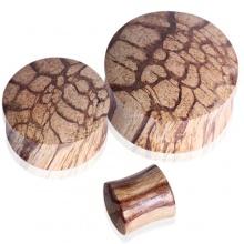 Piercing écarteur plug en bois de racine
