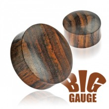 Piercing écarteur plug en bois de Sono marron