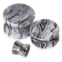 Piercing écarteur plug pierre Jaspe océan