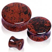 Piercing écarteur plug pierre obsidienne mahagonite