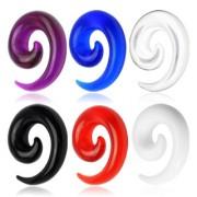 Piercing écarteur spirale en acrylique