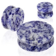 Piercing écarteur type plug en pierre Blue Spot